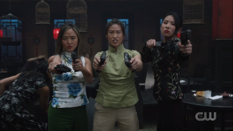 three lady cops face off