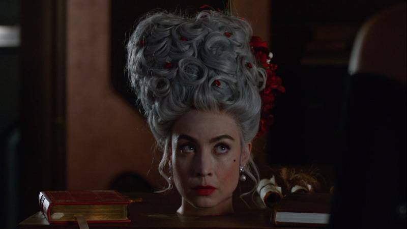 marie's head on a table