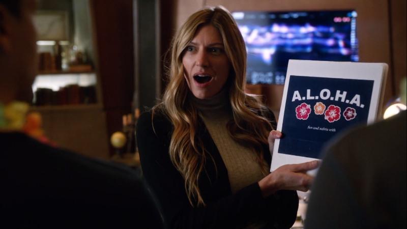 Ava excitedly presents her binder