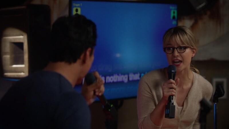 kara sings karaoke