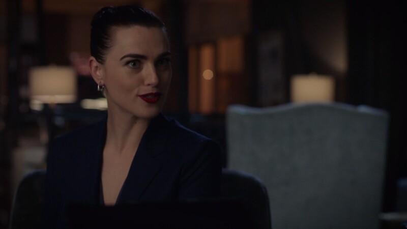 Lena smirks