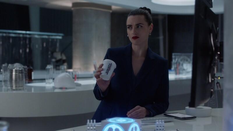 Lena makes a suspicious face