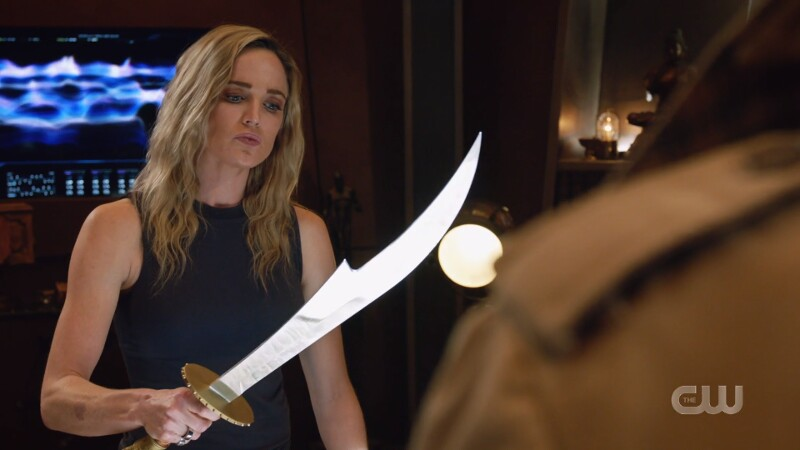 sara wields the sword
