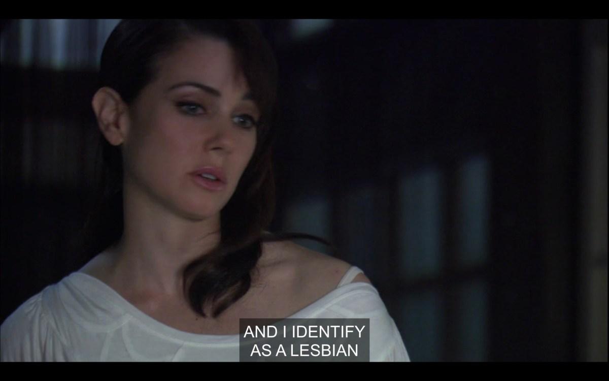 "Close-up of Jenny saying ""I identify as a lesbian"""