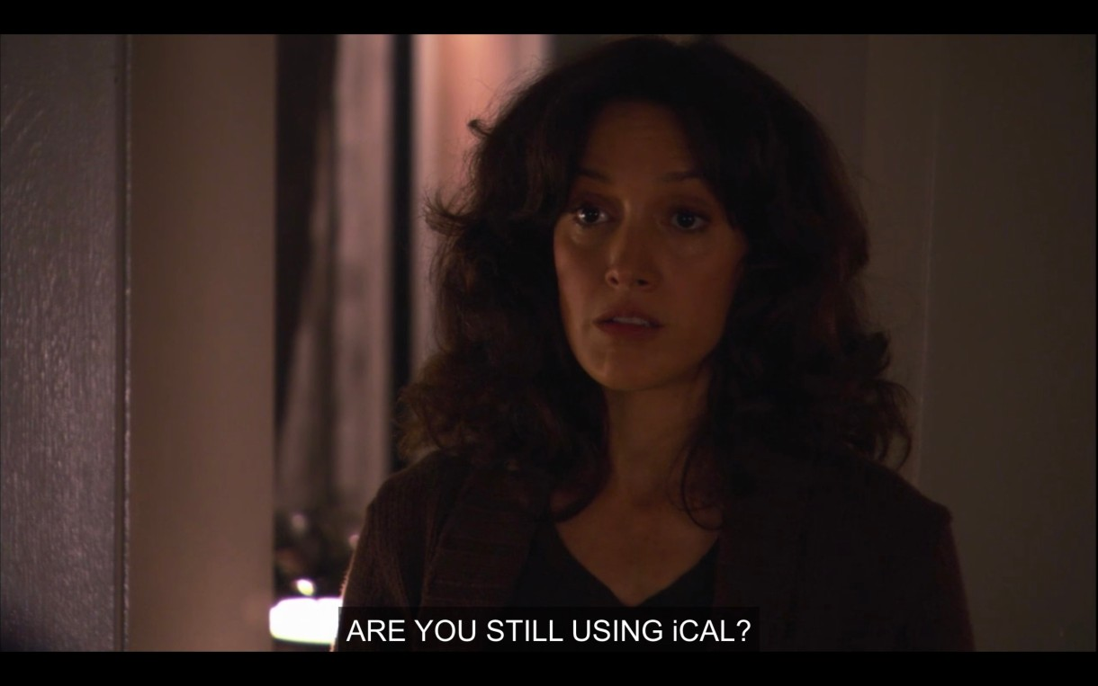 """Bette asks Tina, """"are you still using iCal?"""""""