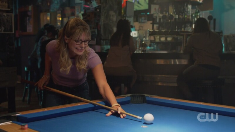 Kara plays pool