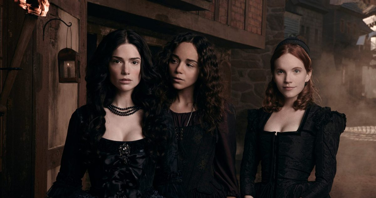Three witches looking very intense in Salem