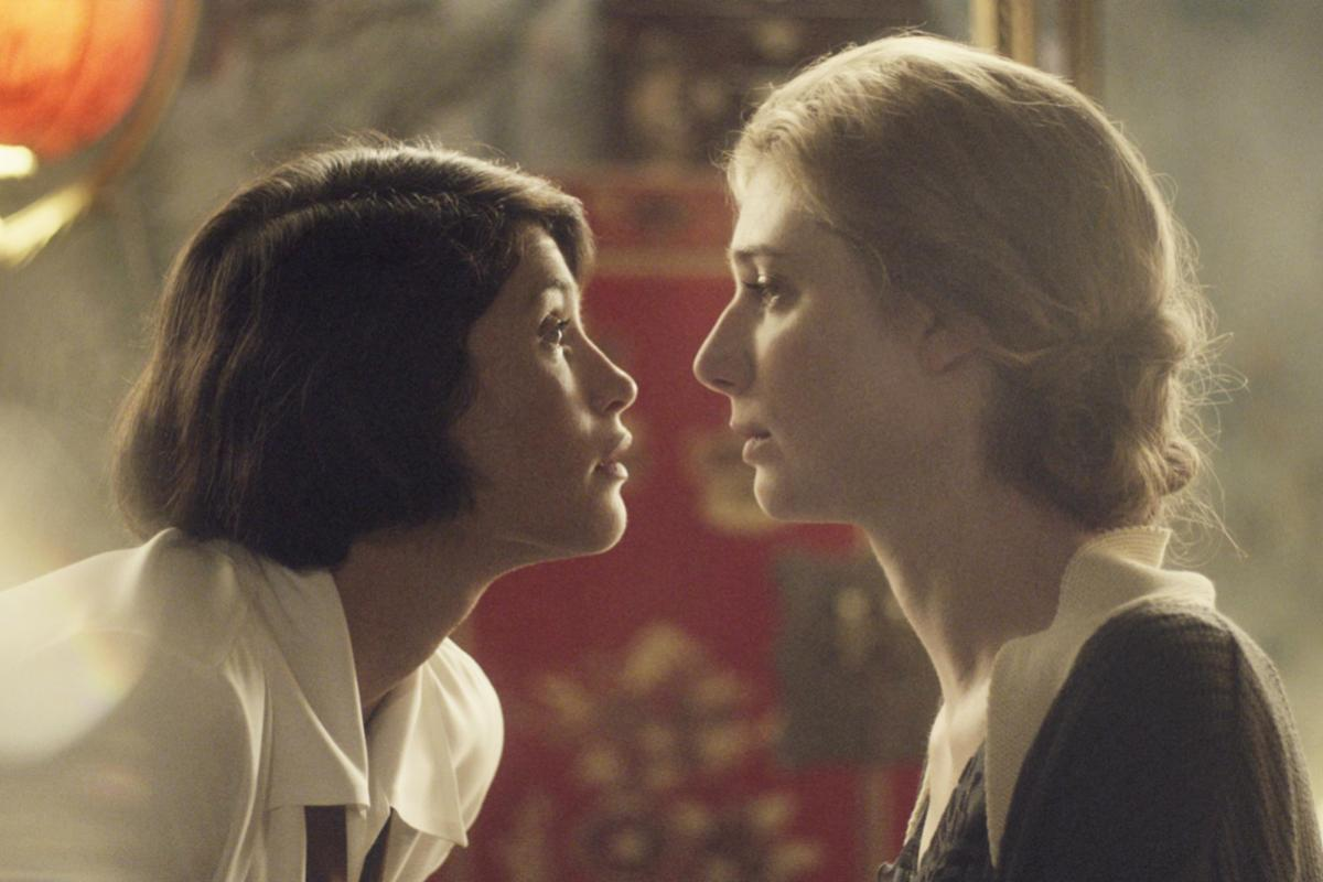 Two women stare up at the sky, their noses millimeters apart and full of sexual tension. This is a lesbian movie available for streaming on Hulu.