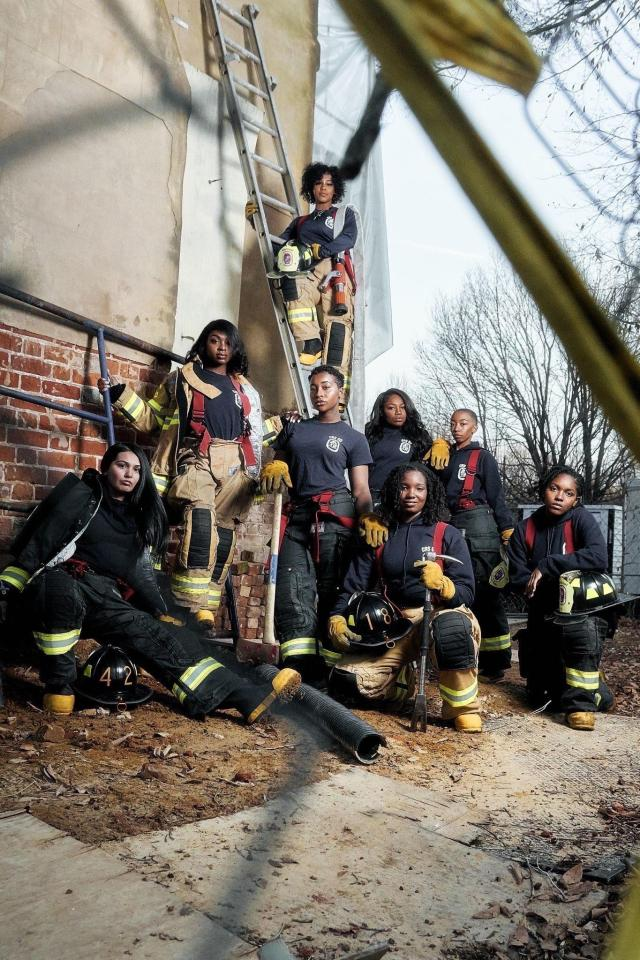 a group of women firefighters of various races