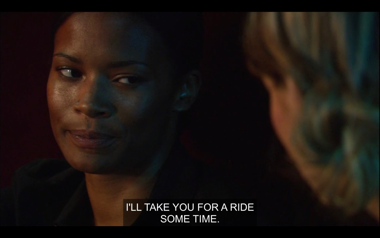 """Tasha side-eyes Alice and says, """"I'll take you for a ride some time."""""""
