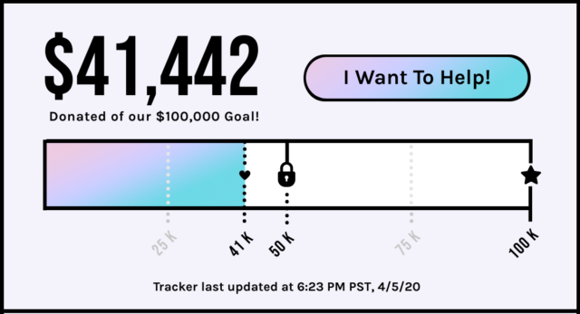 Help Make Sure Autostraddle Has A Future! $41,442 Contributed of our $100,000 Goal! If you help raise $50,000, you'll unlock a $23,000 match gift. Button: I want to help! Tracker last updated at 6:23 PM PST, 4/5/20