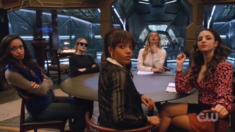 the ladies of legends around a round table