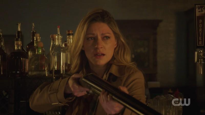 ava cries into her shotgun