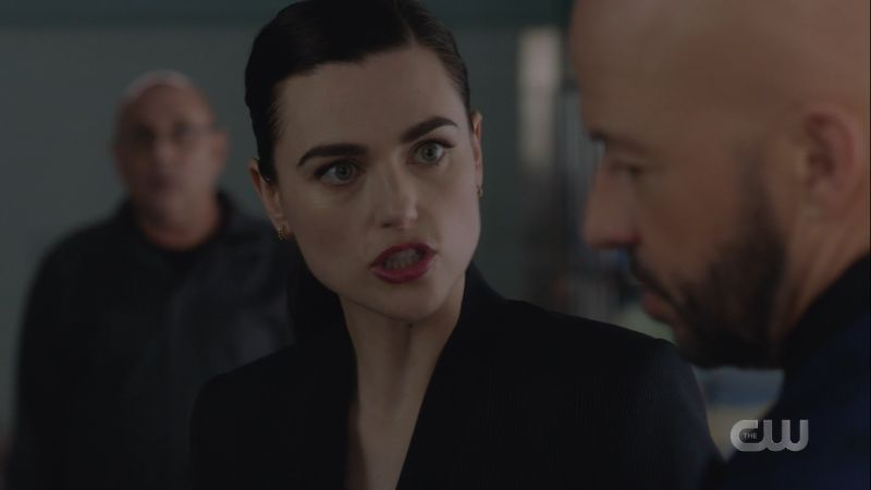 lena is yelling at lex with her lips pursed