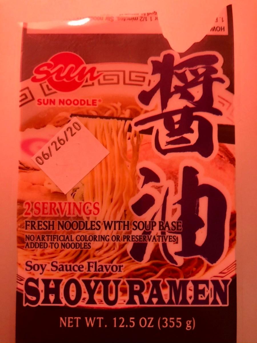 Sun Noodle Ramen label