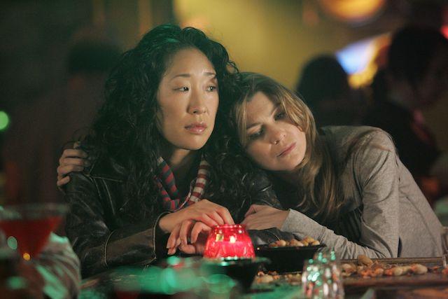 Sandra Oh and Ellen Pompeo in Grey's Anatomy