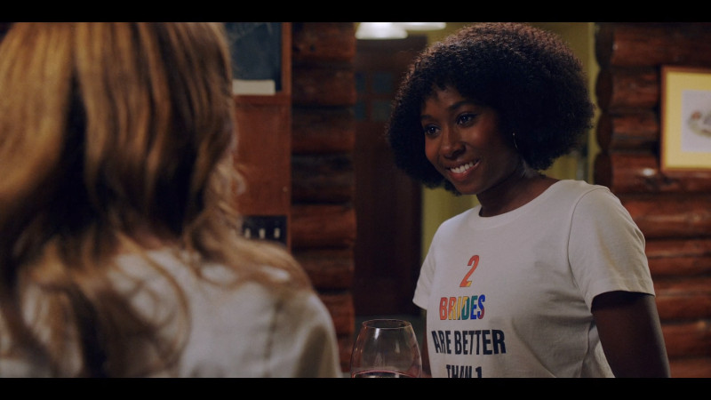Mallory in a 2 brides are better than 2 shirt