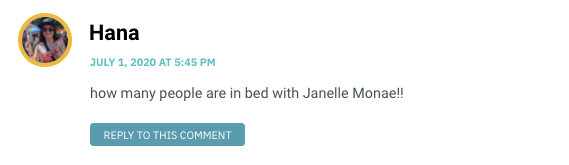 how many people are in bed with Janelle Monae!!
