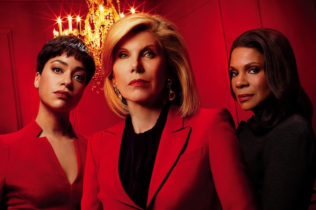 Cush Jumbo, Christine Baranski and Audra McDonald in a promotional image for The Good Fight