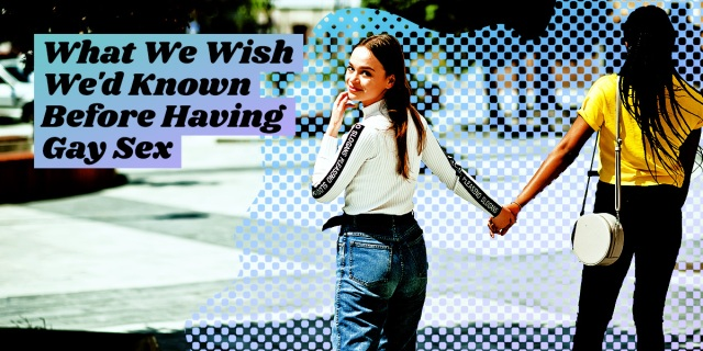 what we wish we'd known before having gay sex - two girls holding hands and walking