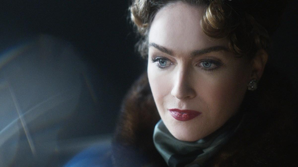 Close-up of Jamie Clayton as Christine Jorgensen