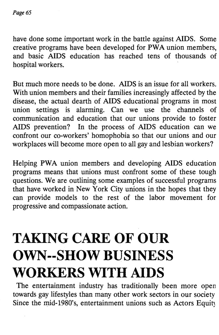 page 65 from Pride At Work pamphlet