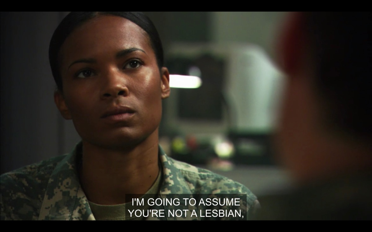"""Tasha is annoyed in her meeting with her counsel, who is saying """"I'm going to assume you're not a lesbian."""""""