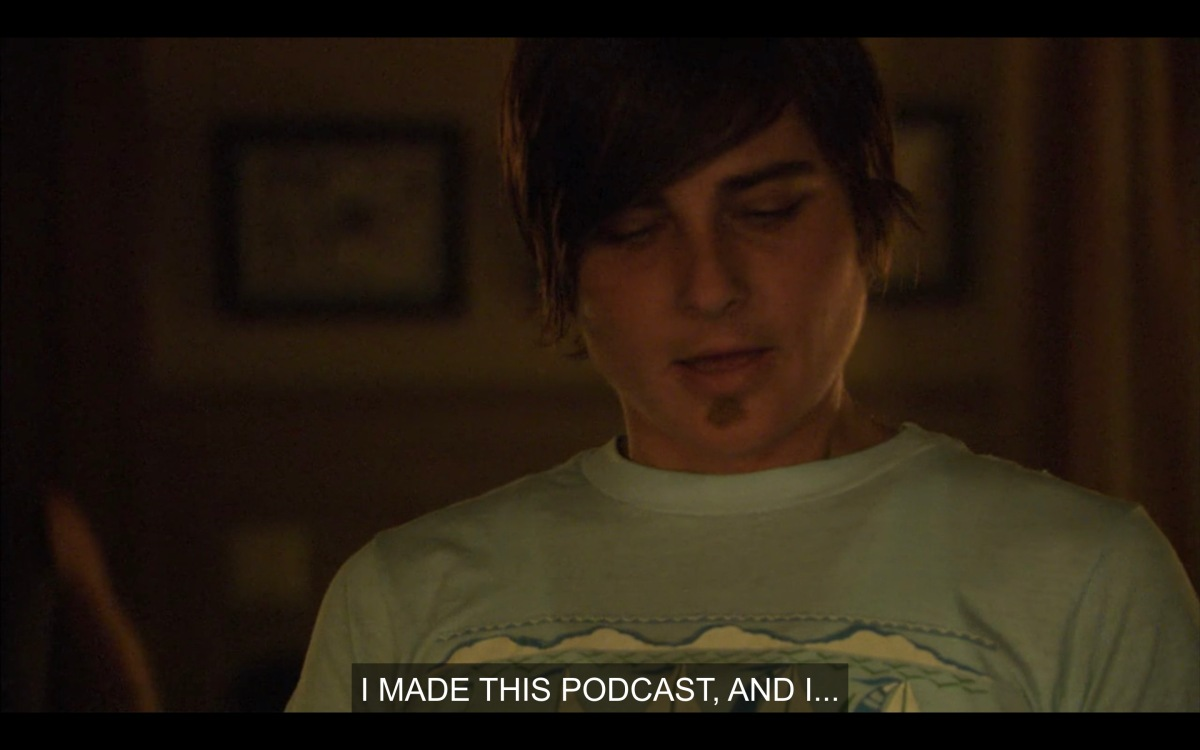 """Max, shoulders up shot, saying """"I made this podcast"""""""