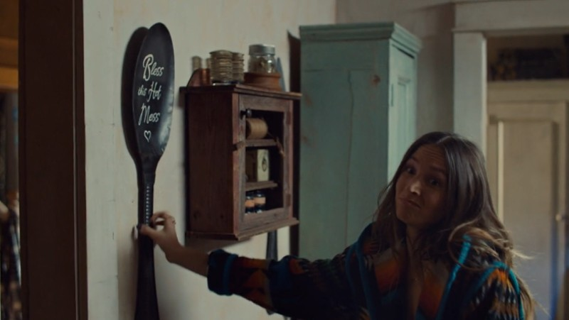 Waverly grabs a spoon with a shrug