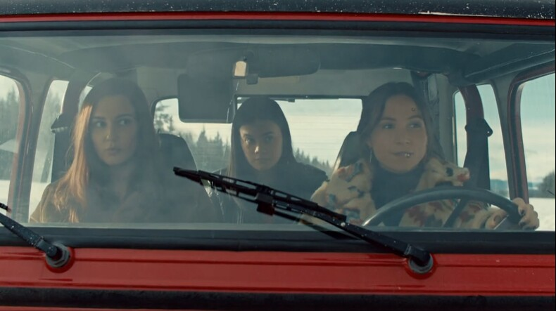 wayhaught and rachel in the jeep