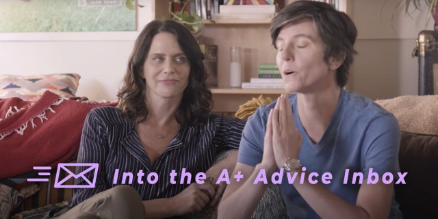 Two characters from the show Transparent receive therapy.