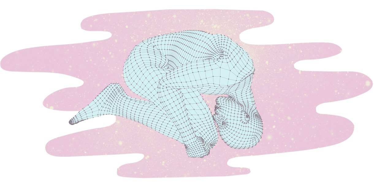 dot pattern adult in fetal position