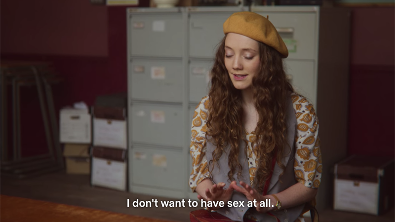 """Sex Education, Florence to Jean: """"I don't want to have sex at all."""""""