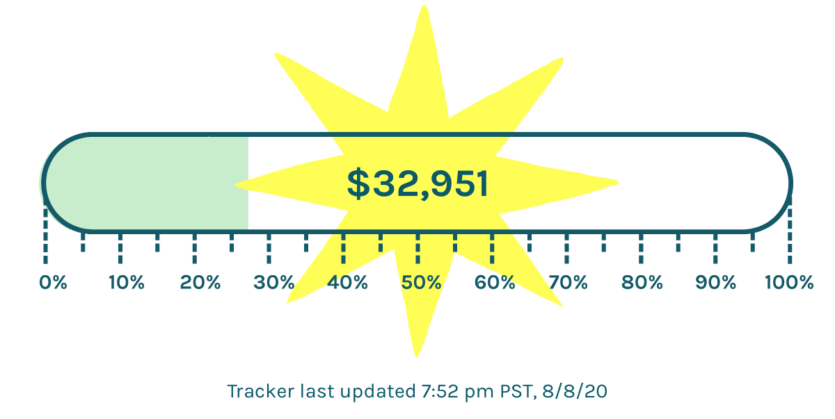 $32,951 of our $118,000 goal raised. Tracker updated 7:52pm 8/8/20 PST.