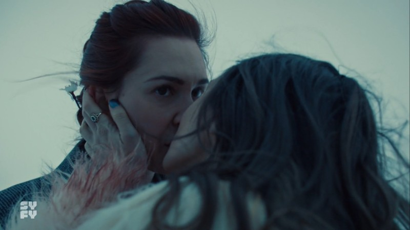 waverly kisses an uninterested eve