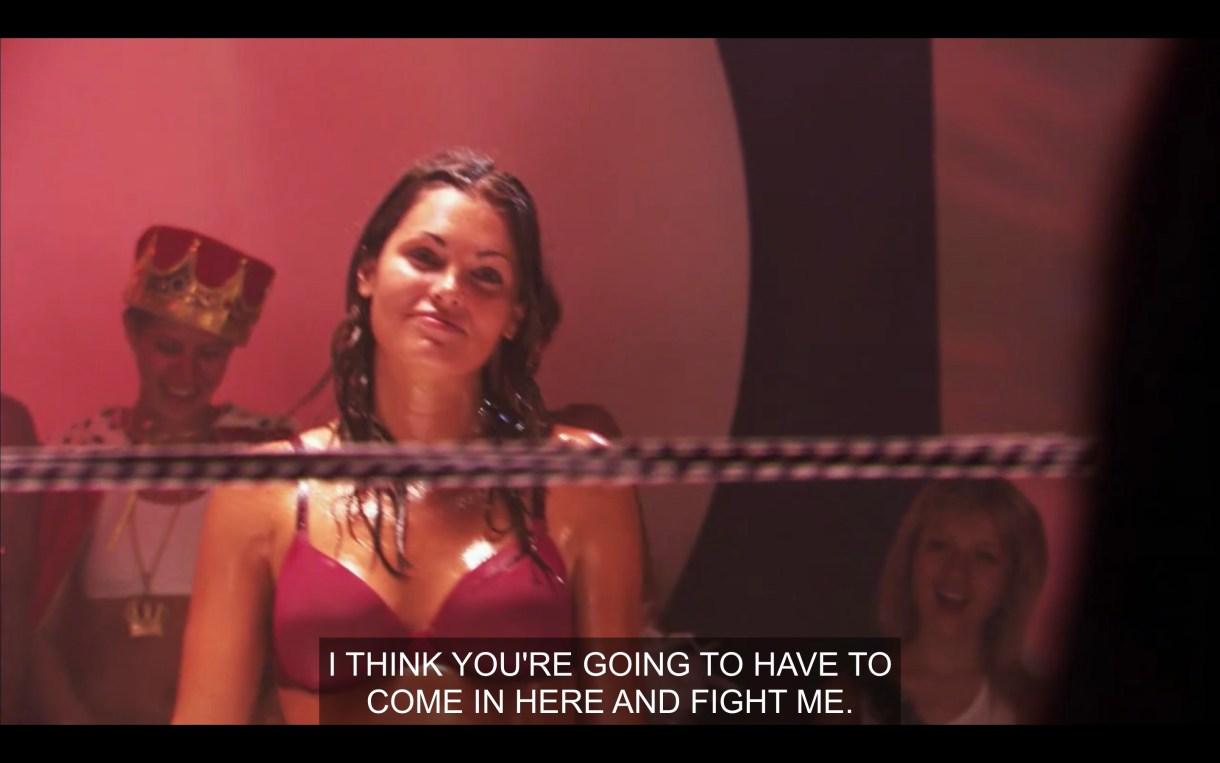 Niki at lesbian oil wrestling