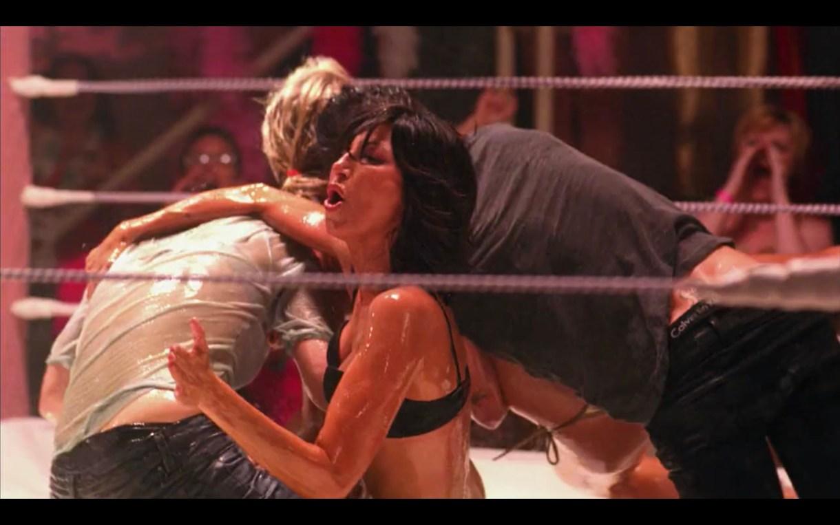 Niki and Jenny lesbian oil wrestling