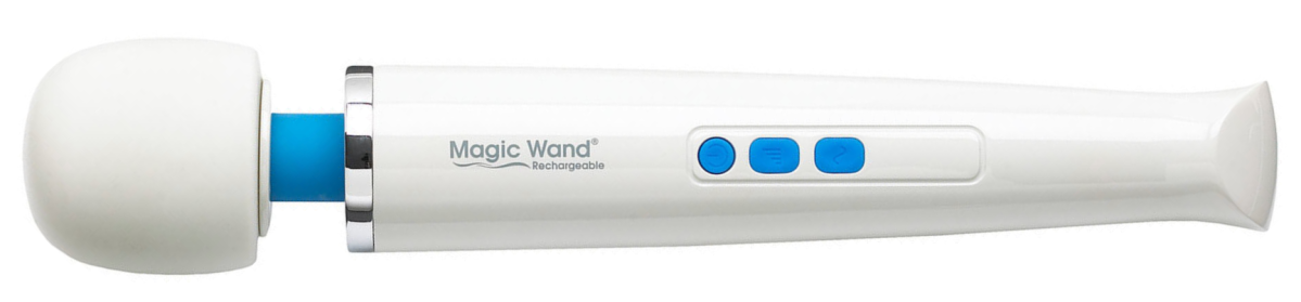 white and blue magic wand