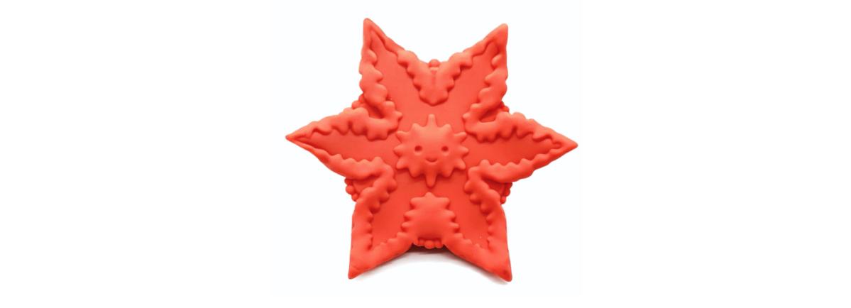 an orange alien starfish-shaped vibrator
