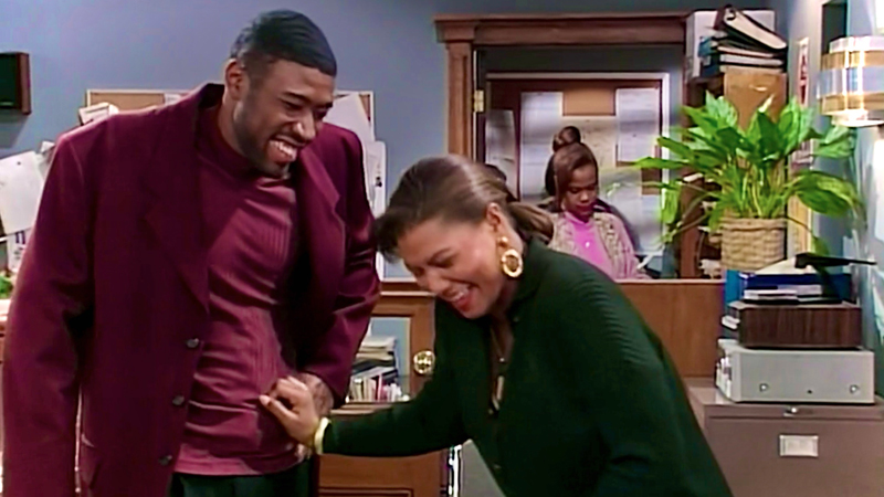 Khadijah and Scooter on Living Single