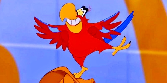 """A cartoon parrot from the movie """"Aladdin"""""""