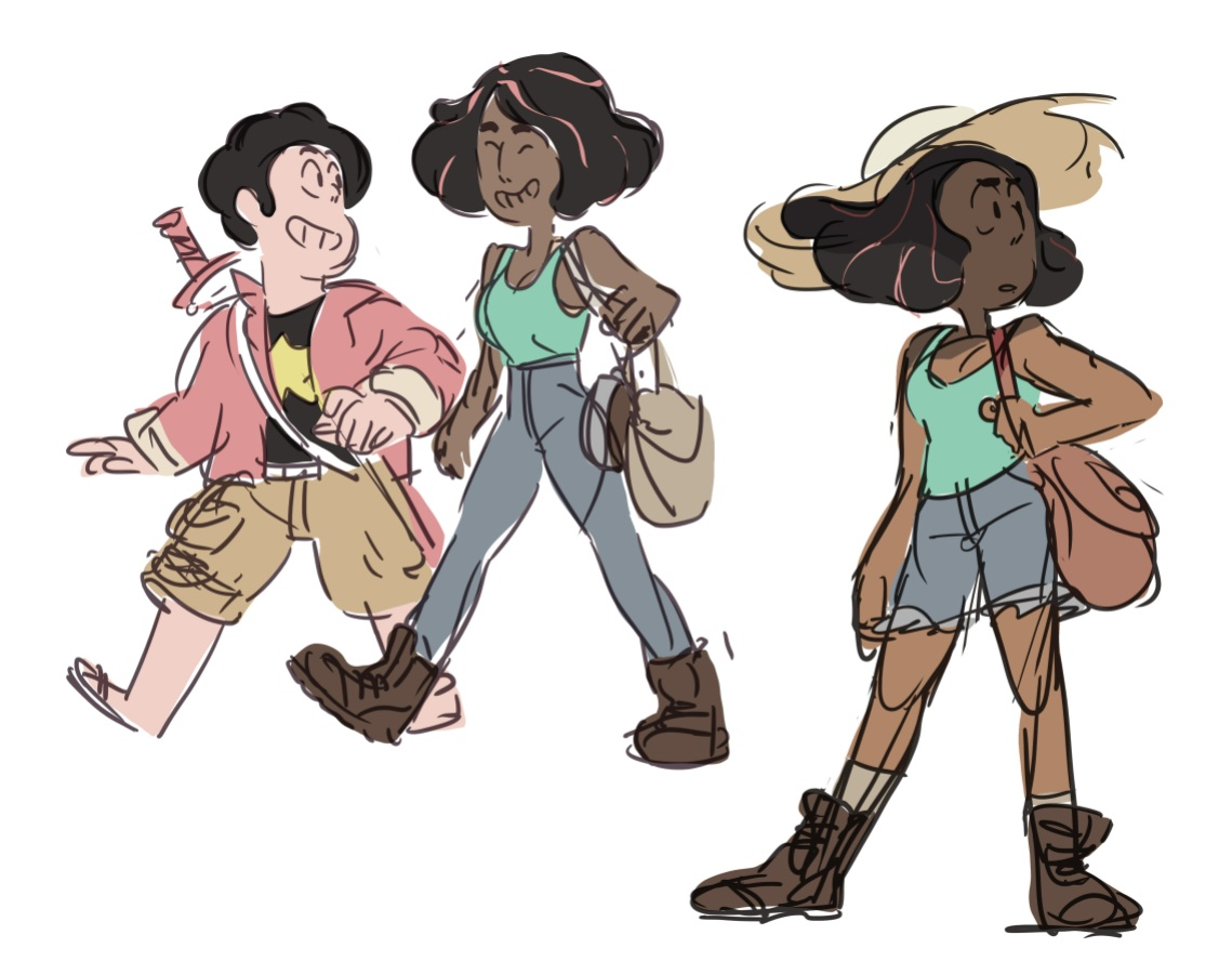 Early Future concept art by Rebecca Sugar from 2014