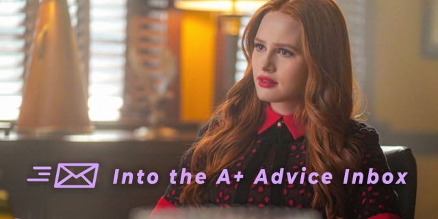 Cheryl from Riverdale sits in a therapist's office looking consternated with her signature red hair and a fashionable outfit