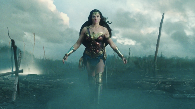 Wonder Woman's whole entire body, including her face, in Wonder Woman.