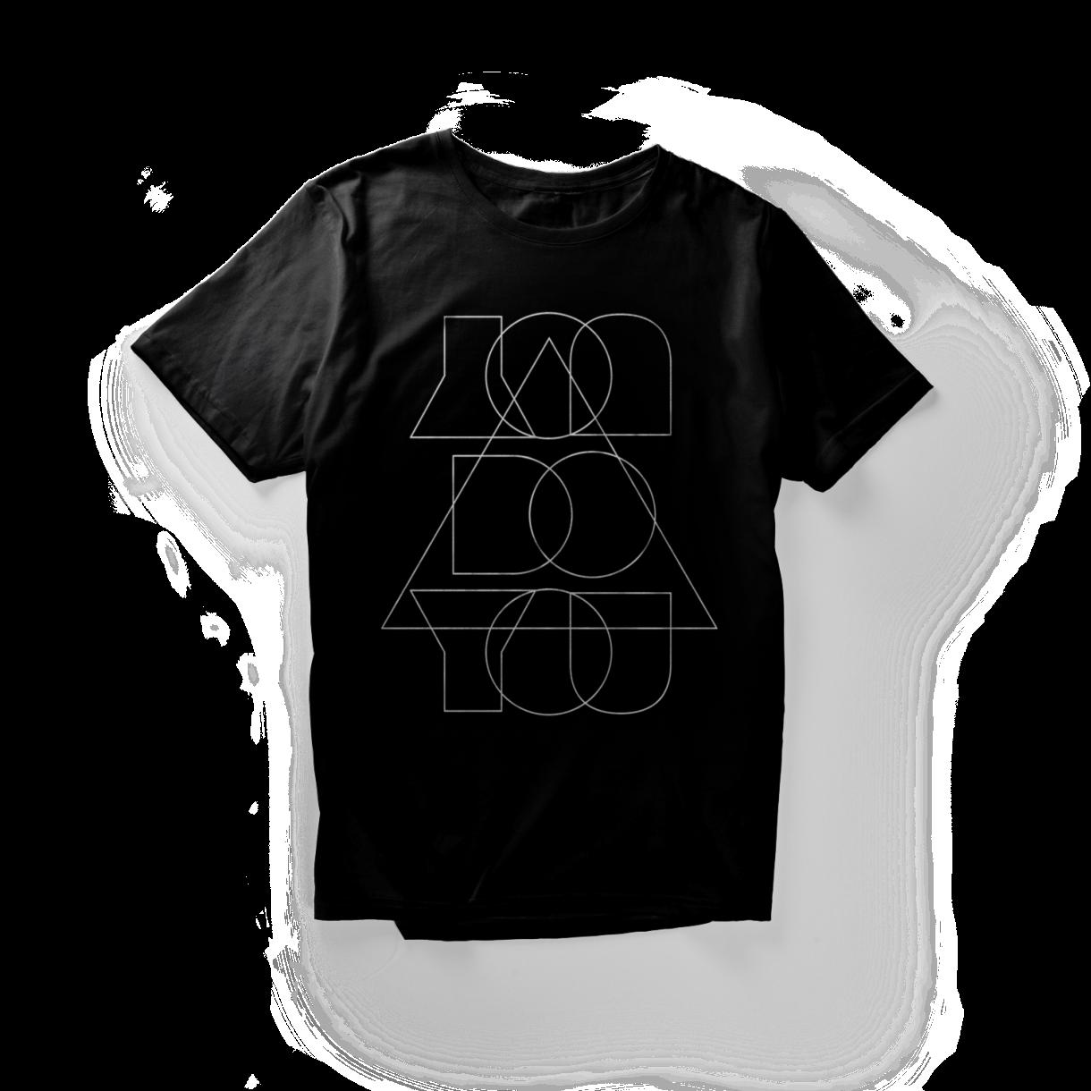 You Do You Shirt - Black with a white design