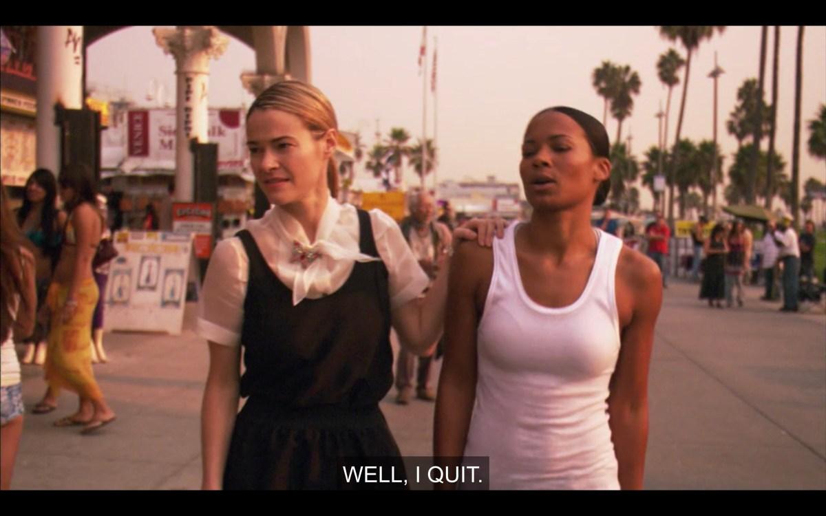 Tasha tells Alice that she quit her job