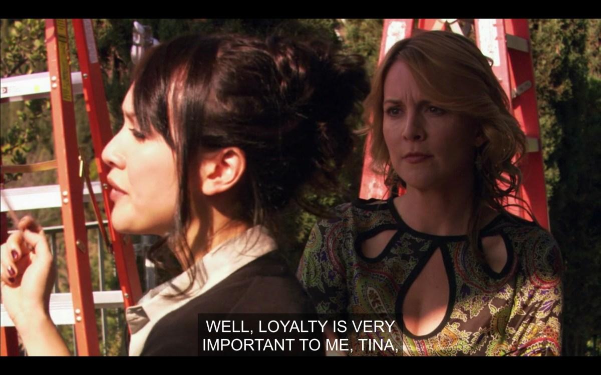 Adele and Tina on the set of Lez Girls