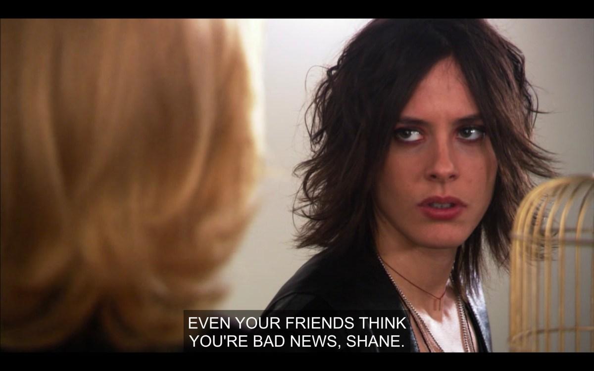 Shane glares at Phyllis at the art show