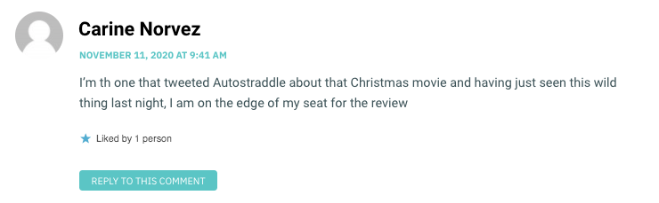 I'm th one that tweeted Autostraddle about that Christmas movie and having just seen this wild thing last night, I am on the edge of my seat for the review