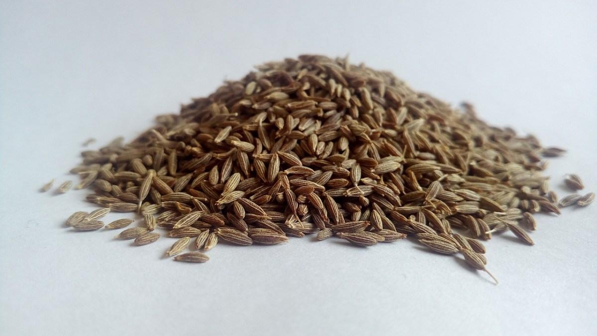 A mound of cumin seeds